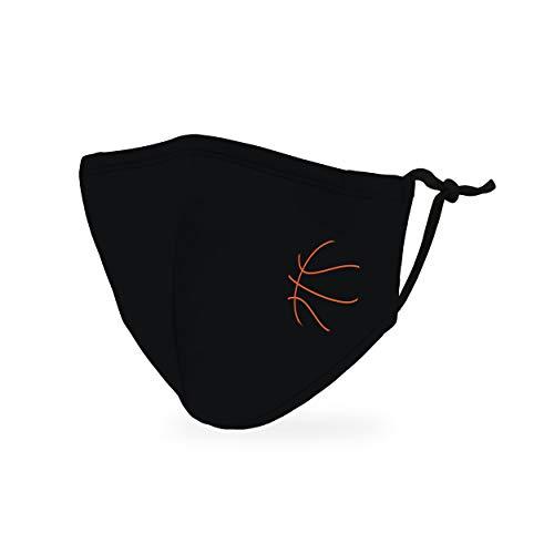 Weddingstar kinder waschbare, Mundschutzmasken aus Stoff. Wiederverwendbar und verstellbar mit Staubfiltertasche - Basketball