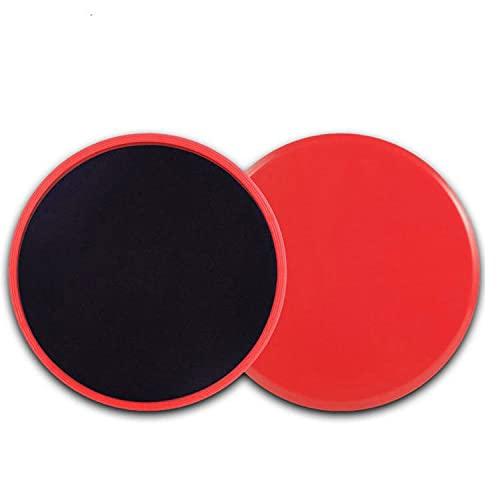 PPuujia Equipo de fitness Gym Disco deslizante Yoga Abdominal Muscular, Equipo de fitness Skateboard Fitness Board Deportes Skateboard (Color: Rojo)