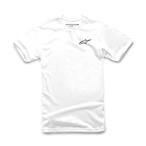 Alpinestars Herren T-Shirt Neu Ageless Tee, Weiss Schwarz, L, 1018-72012