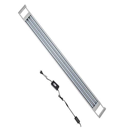 Illuminazione per Acquario, Plafoniera LED Acquario Dolce, Lampada LED per Acquario 189 LED Luce Acquario 120-130 cm, 32W, in Alluminio, Impermeabile IP67