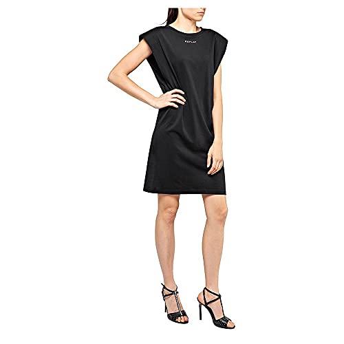 REPLAY W9474 .000.22748 Vestido, Negro (Blackboard 99), XX-Small para Mujer