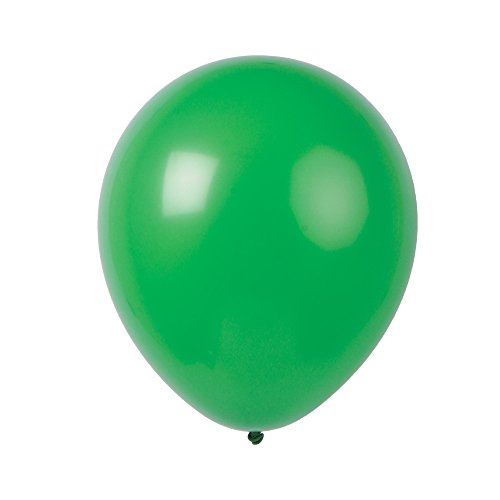 Topenca Party Supplies, 12 Inches Solid Latex Balloons, 50 Pack, Dark Green