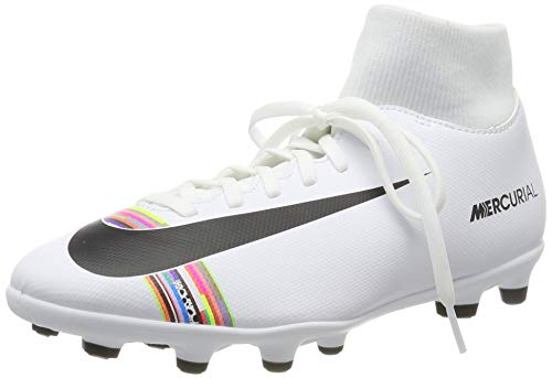 Nike Superfly 6 Club Fg/MG, Scarpe da Calcetto Indoor Unisex-Adulto, Bianco (White/Black/White 000), 45 EU