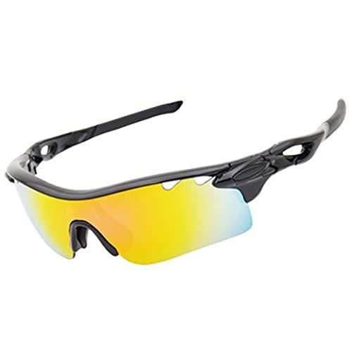 NZAUA Gafas de Sol Deportivas polarizadas, Gafas de Sol de Ciclismo, para Hombres Mujeres Que corren la conducción de Golf de béisbol