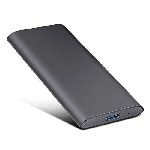 Externe Festplatte 2tb, Type C USB 3.1 Tragbare Festplatte für PC, Mac, Desktop, Laptop, MacBook, Chromebook (2tb, schwarz)