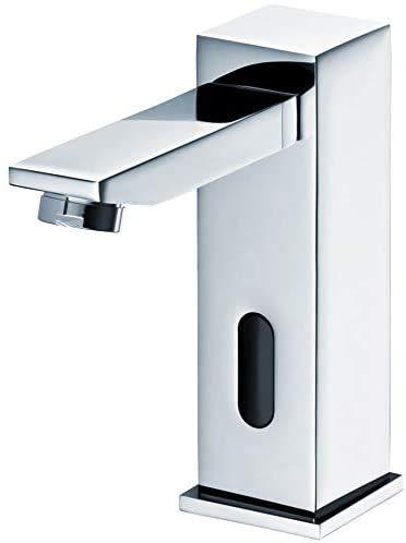 Grifo de lavabo por infrarrojos, mezclador automático de agua fría y caliente, grifo cromado,Chroom
