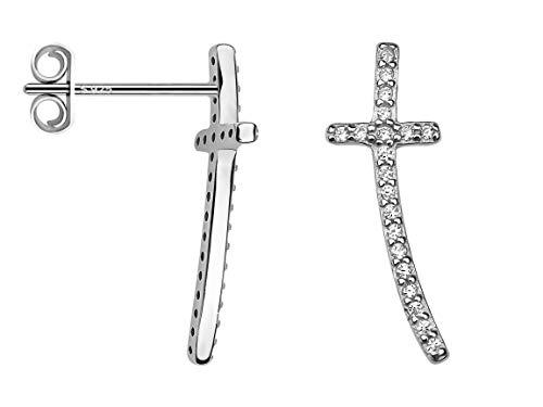 SOFIA MILANI Pendientes Trepadores Mujer Cruces Plata de Ley 20559