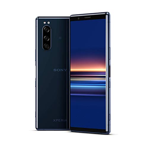 "Sony Xperia 5 - 6.1"" FHD+ HDR OLED 21:9 Display, Triple-Camera-System with Eye AF, 6GB RAM, 128GB Memory - Blue"