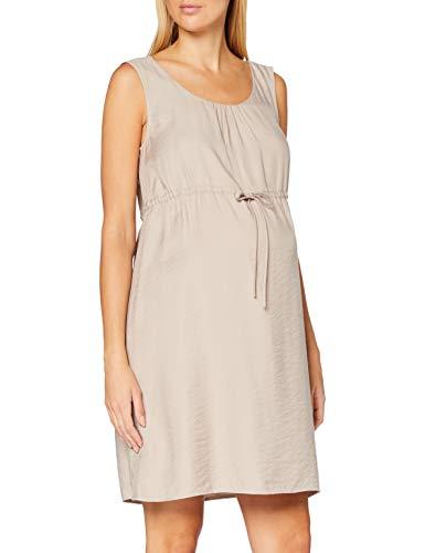 ESPRIT Maternity Damen Dress WVN Sl Kleid, Beige (Beige 270), (Herstellergröße: 42)
