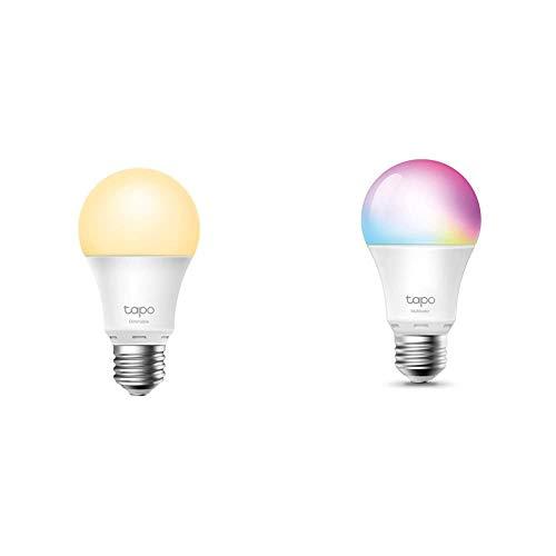 TP-Link -Bombilla LED Inteligente, Bombilla WiFi sin necesidad de Hub + 【NUEVO】TP-Link - Bombilla LED Inteligente, Bombilla WiFi, Multicolor, Regulable