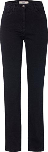 BRAX Damen BX_Carola Straight Leg Jeans, Schwarz (Clean Black Black 2), W32/L30 (Herstellergröße: 42K)