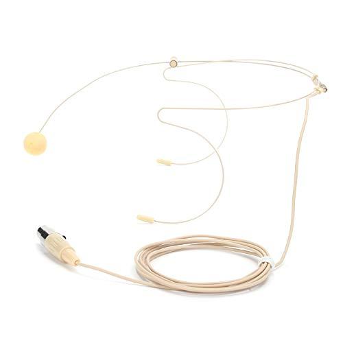 3Pin-Anschluss-Headset-Mikrofon mit Kapazitätskopf für Bodypack-Sender, professionelles Vocal-Pickup-Kondensatormikrofon für Bühne, Kirche, Dozent