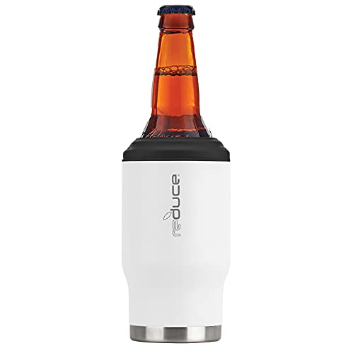 Reduce Can Cooler – 4-in-1 Stainless Steel Can Holder and Beer Bottle Holder, 4 Hours Cold – The...