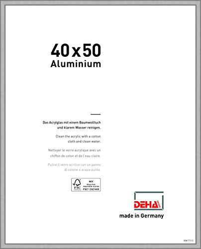 DEHA Aluminium Bilderrahmen Boston, 40x50 cm, Silber Matt