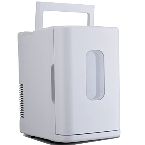 LYZL Mini Fridge 10 Litre/Car Fridge for AC/12V DC Thermoelectric Portable Cooler And Warmer for Care,white