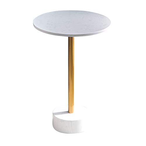 Tische Home D & Eacute; COR Möbel Gold Marmor Beistelltisch Runder Couchtisch Nhtstand Einfacher Laptop-Schreibtisch Für Wohnzimmer Balkon Home, 40 X 60 cm (& Oslash; X H) Wohnzimmer Oder Lounge