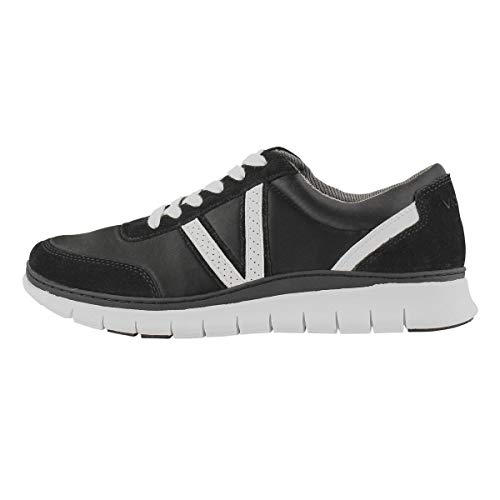 Vionic Women's Nana Sneaker - Ladies Casual Sneakers with Concealed Orthotic Arch Support Black 9 Medium US