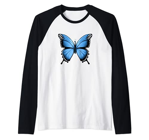 Diseño de mariposa fresco Insecto Amante de la naturaleza Camiseta Manga Raglan