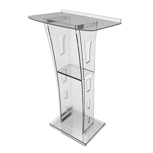 JRPT Welcome Desk Plexiglas,Rednerpult Montage-Design,Stehpult pult Großer Raum Einfache Montage Wunderschönen/Transparent / 60 ohnmächtig 21545