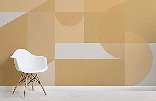 ZZXIAO Gelbe geometrische Formen Modernes Bauhaus-Tapeten-Wandbild wandpapier fototapete 3d effekt tapete Wohnzimmer Schlafzimmer Hintergrundbild-350cm×256cm