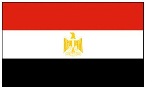 Gifts 4 All Occasions Limited SHATCHI-883 Egypte National Grand drapeau de supporter à œillets 1,5 x 91 cm