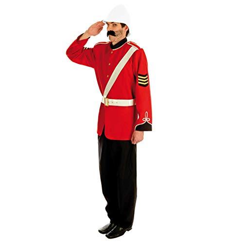 Fun Shack Rotes Burenkrieg Soldat Kostüm für Herren - Groß
