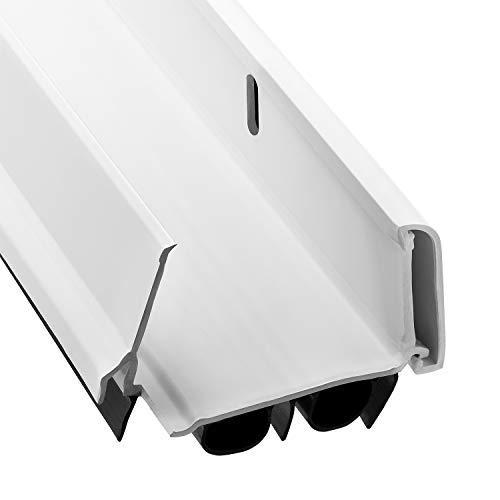New: KS Hardware,Patent Pending, Adjustable Double Bubble Door Sweep, Draft Stopper, Under Door Seal for Exterior Doors, 1 3/4