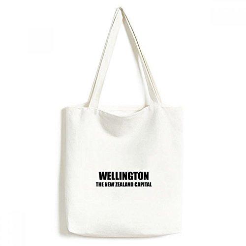 Bolsa de lona Wellington The New Zealand Capital bolsa de compras casual bolsa de mão