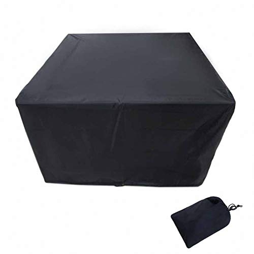 lINOC Patio Furniture Covers Garden Furniture Covers Black Waterproof Suitable for Chairs Loveseats Ottomans Sofas Tables,170×94×70cm