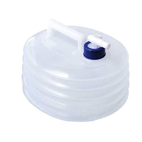 DunShan Bolsa Agua Blanda Tanque Agua Coche Espesante Portátil Plegable Grado Alimenticio PE Control Caudal Válvula Agua Blanco