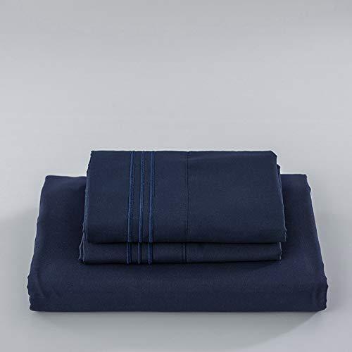 haiba Sábana bajera extra profunda tamaño king solo sábana bajera sin fundas de almohada, transpirable, no se decolora, 152 x 203 cm + 40 cm (4 unidades).