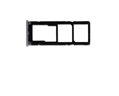 Compatible con Xiaomi Redmi Note 5A / MDG6S MDE6S MDT6S Soporte adaptador porta nano SIM TRAY Carro porta tarjeta SIM 1 / SIM 2 + lector Micro SD gris
