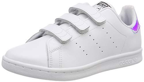 Adidas Stan Smith CF C, Zapatillas de Deporte Unisex niño, Plateado Metallic Silver-Solid/Footwear White 0, 28.5 EU