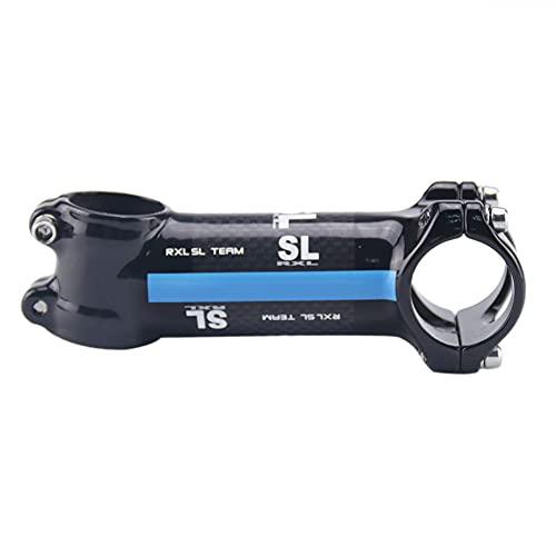 RXL SL Team Lega di Alluminio Rivestito in Fibra di Carbonio Gambi Manubrio MTB Bicicletta Blu 3K Lucido 6 Gradi Attacco Manubrio MTB 80mm
