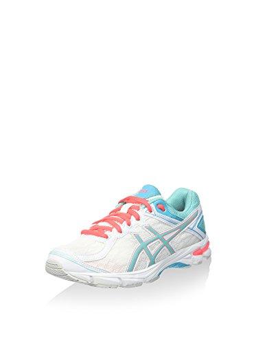 Asics Zapatillas de Running Gt-1000 4 GS Blanco/Turquesa/Coral EU 37 (US 4H)
