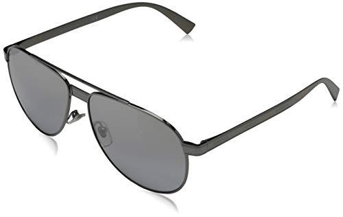 VERSACE Unisex-Erwachsene 0VE2209 Sonnenbrille, Mehrfarbig (BLACK/GREYl), 58.0