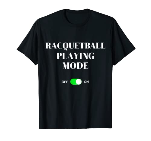 Modo de juego de racquetball en divertido juego de raqueta Squash Sports Camiseta