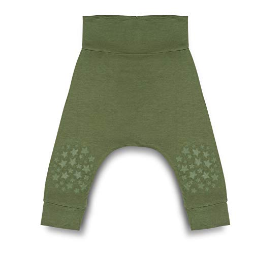 Go Little One Go Anti-Slip Bamboo Baby Crawling Harem Pants - Helps...