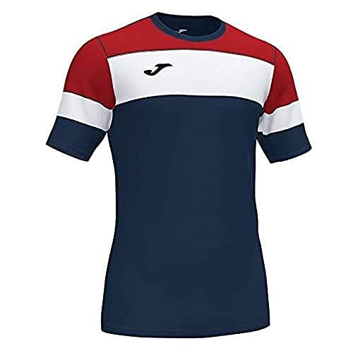 Joma Crew IV Camisetas Equip. M/C, Hombres, Marino Rojo Blanco, 3XS