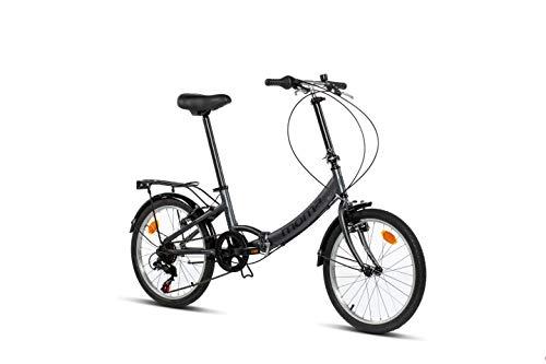 Moma Bikes First Class Ii Bicicletta di Città Pieghevole, 20', Alluminio Shimano 6v, Sella Confort, Unisex - Adulto, Grigio, Unic Size