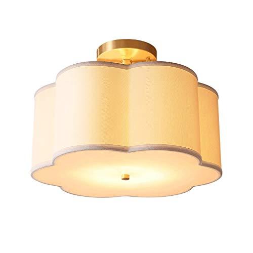 Lampe de plafond Eclairage de plafond Plafonniers Plafonnier américain simple en cuivre, salon chambre chambre chambre chambre enfants lampe de plafond en lin Lampe de plafond Lumière Plafond Suspensi