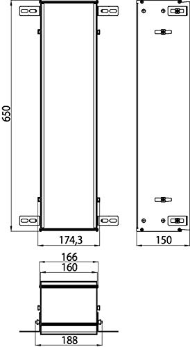 Emco Asis 150 974000041-Marco armarios empotrados (654 mm), Gris, Talla única