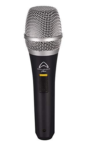 Wharfedale Pro DM-57 micrófono dinámico unidireccional con interruptor de encendido/apagado y cable de 5 m (negro)