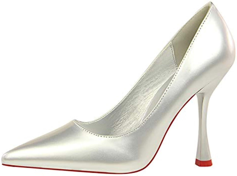 FLYRCX Damenmode Ktzchen Ferse High Heels Hochzeit Schuhe europischen Lackleder wies Stiletto Schuhe
