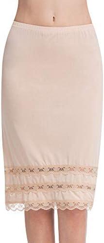 Half Slips for Women Underskirt Dress Extender Lace Trim Knee Length Midi Skirt 19 26 Length product image