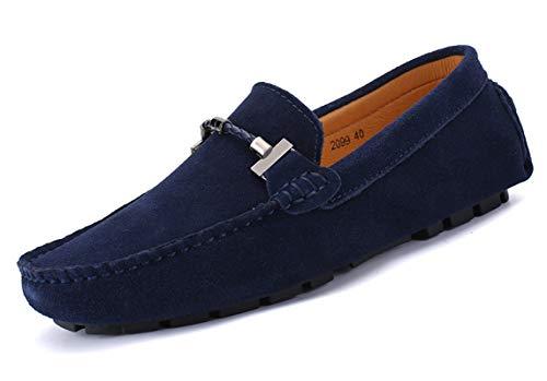 SMajong Uomo Mocassini Scamosciato Scarpe di Guida Comfort Pelle Scarpe Classico Loafers