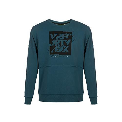 Valentino Rossi Vr46 Lifestyle, Sweatshirt Uomo, Blu/Verde, L