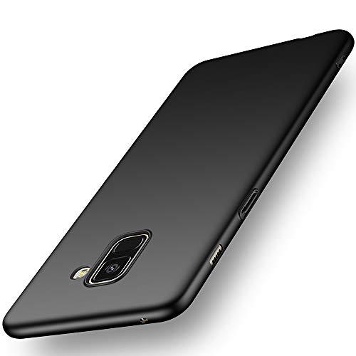Avalri Cover Samsung A8 2018, Minimalista Design Ultra Sottile Case Rigida in PC Antiurto Anti-Graffio Custodia per Samsung Galaxy A8 2018 (Nero Liscio)
