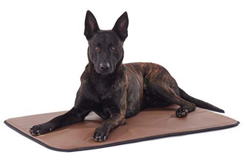 Woofery - Hundematte Hundekissen Geppetto - Kunstleder Antirutsch XL 101 x 67 cm Braun