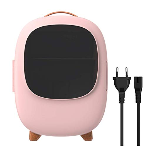Mini refrigerador de 8 l, bifuncional frío / calor, refrigerador portátil para el cuidado de la piel, maquillaje de belleza, calentador compacto, para el cuidado de la piel, oficina, automóvil, AC/DC